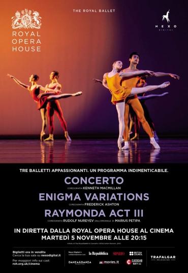 The Royal Ballet: Concerto – Enigma Variations – Raymonda Act III